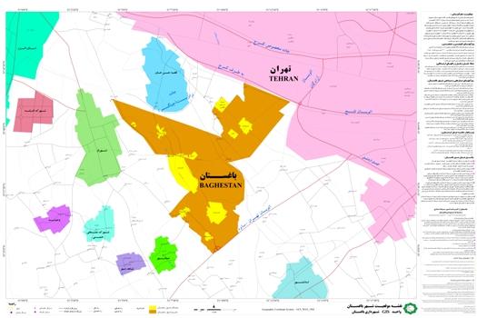 نقشه و موقعیت باغستان تهران