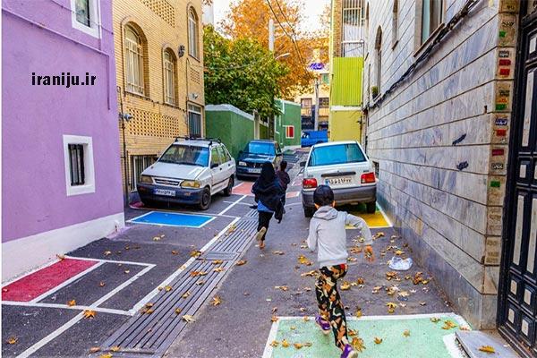 کوچه رنگی های محله دستغیب