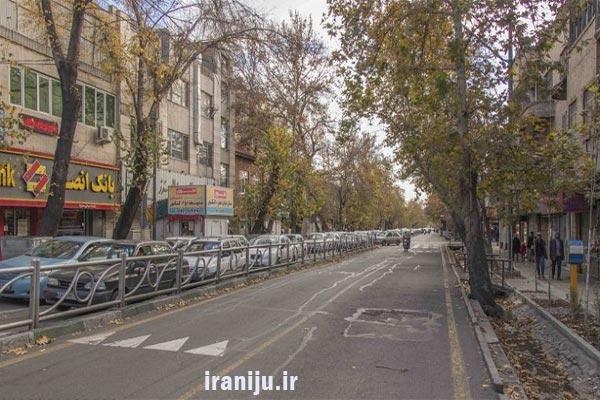 خیابان های مهم منیریه