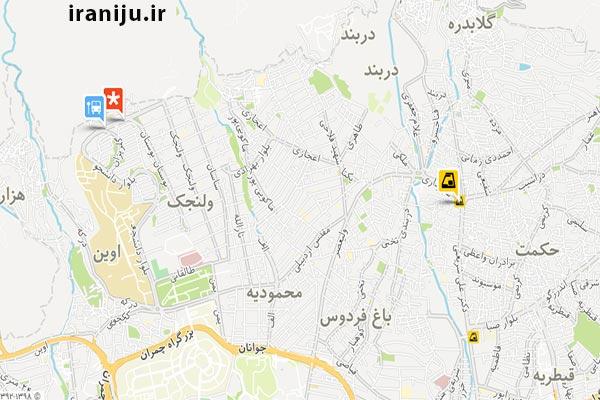 منطقه ولنجک در شمال تهران