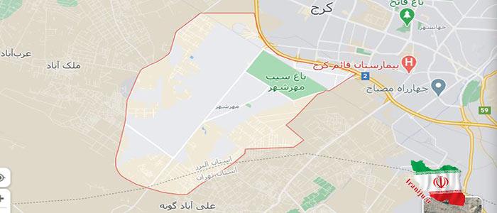 نقشه مهرشهرکرج