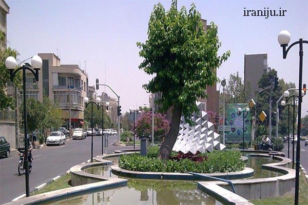 خیابان های مهم محله سبلان تهران